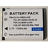 互換 リチウムイオンバッテリー 純正品より容量増加 充電式電池 充電池 LI-40B NP-45 EN-EL10 D-LI63 D-LI108 NP-80 Kllc-7006 LI-42B