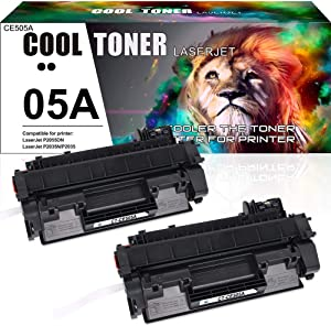Cool Toner Compatible Toner Cartridge Replacement for HP 05A CE505A Toner for HP Laserjet P2035 P2035n P2055dn P2055d P0255x HP P2055 P2030 P2050 P2055 P2035 Printer Cartridge Ink (Black, 2-Pack)