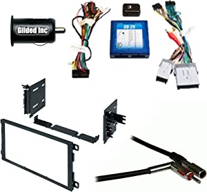 Car Radio Stereo Dash Kit Onstar Bose Harness for 2000+ GM GMC Chevy Cadillac