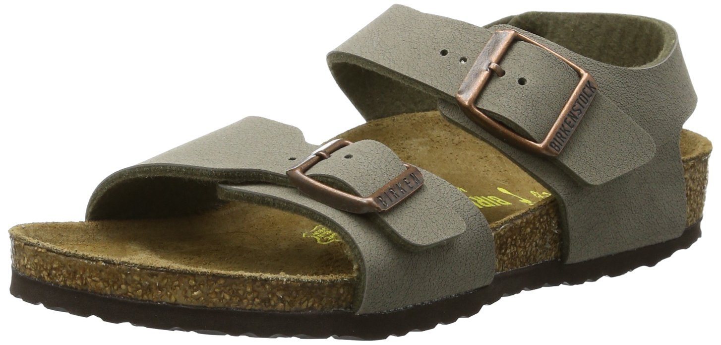 Birkenstock Back Strap ''New York Kids'' from Birko-Flor in stone 37.0 EU N by Birkenstock