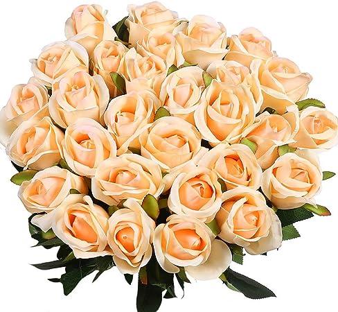 decoraci/ón de Fiesta de Hotel de Oficina en casa Decpro 6 Piezas de hortensias Artificiales 6,6 de Flores de Seda de hortensias de un Solo Tallo para Ramos de Novia centros de Mesa Rosado