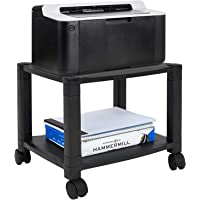Mount-It! Under Desk Printer/Fax Stand 2 Shelf Height Adjustable With 4 Swivel Wheels, Cable Management, Low Rolling…