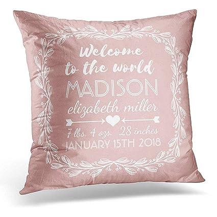 Amazon Throw Pillow Cover Customized Peach Nursery Baby Girl New Baby Girl Decorative Pillows