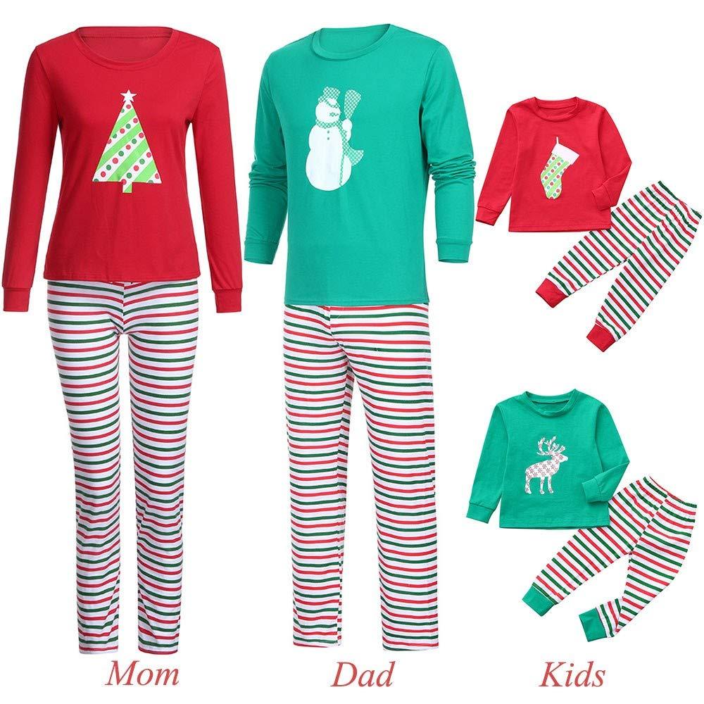 ebefac42d969 Amazon.com  Christmas Family Pajamas Sets,HKDGID Winter Matching ...