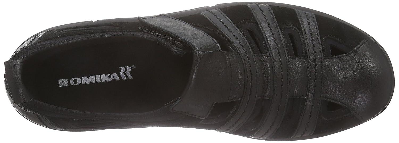 Romika Mok Walk H (Schwarz 11 Herren Slipper Schwarz (Schwarz H 100) 6061fa