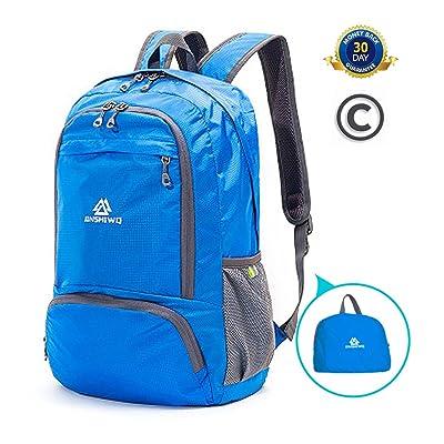 JinshiWQ Hiking Daypack, 25L Lightweight Foldable Waterproof Hiking Bag For Women free shipping