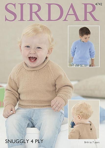 Sirdar 4742 Knitting Pattern Baby Childrens Sweaters In Sirdar