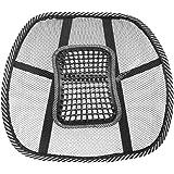 ゲインマートオリジナル ランバーサポート 超軽量 蒸れないメッシュタイプ 腰痛対策 クッション イスや車のシートに簡単取り付け
