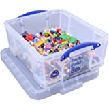 Really Useful Box 18 Litre CD/DVD Storage - Clear