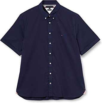 Tommy Hilfiger Slim Fine Twill Shirt S/s Camisa, Blue, XX-Large para Hombre: Amazon.es: Ropa y accesorios