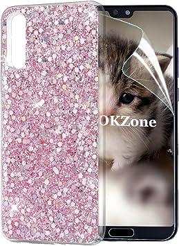 OKZone Funda Huawei P20 Carcasa Purpurina, Cárcasa Brilla Glitter ...