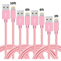 4-Pack Idison MFi-Certified Lightning Cable (Pink)