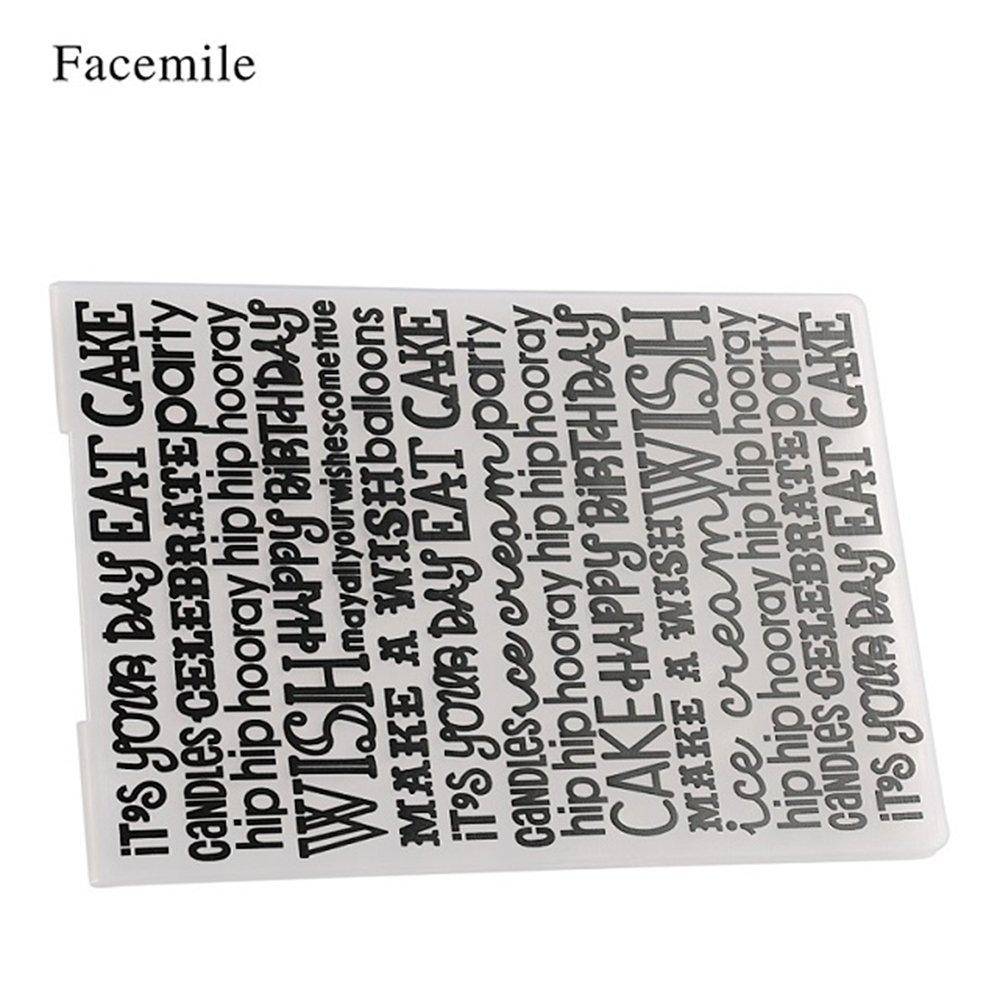 Festnight 1 UNIDS Plantilla de Pl/ástico Impresiones con Textura Marco Decorativo Carpeta de Grabaci/ón En Relieve para Scrapbooking /Álbum de Foto Tarjeta de Papel Artesan/ía Hacer Decoraci/ón de La Boda