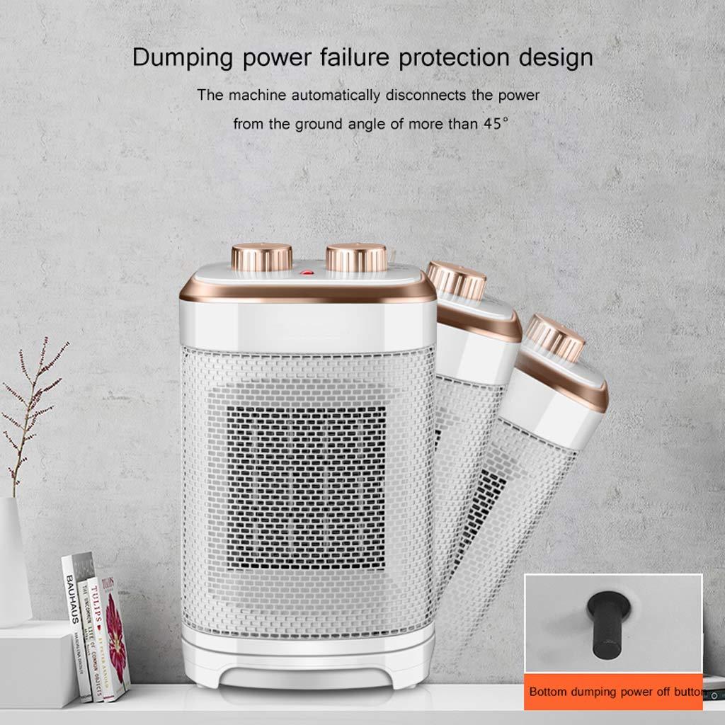 Calentador eléctrico Mini Calentador pequeño Caliente 1500W 4 de la Velocidad Ahorro de energía del Ministerio del Interior 4 Colores Opcionales (Color ...