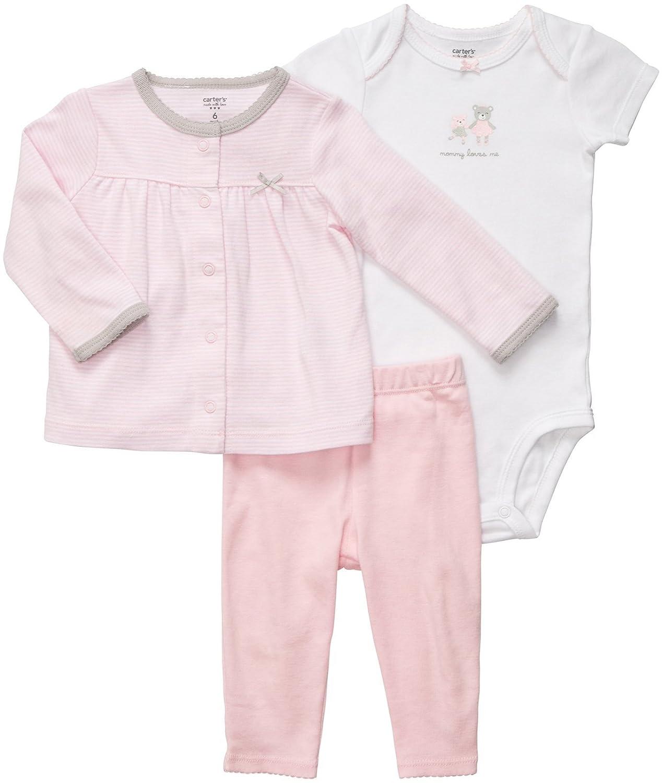 定番 Carter XS 's Baby Baby Girl 's 3ピースカーディガンセット XS ピンク B0082PFB8Q B0082PFB8Q, コクラミナミク:4d975470 --- a0267596.xsph.ru