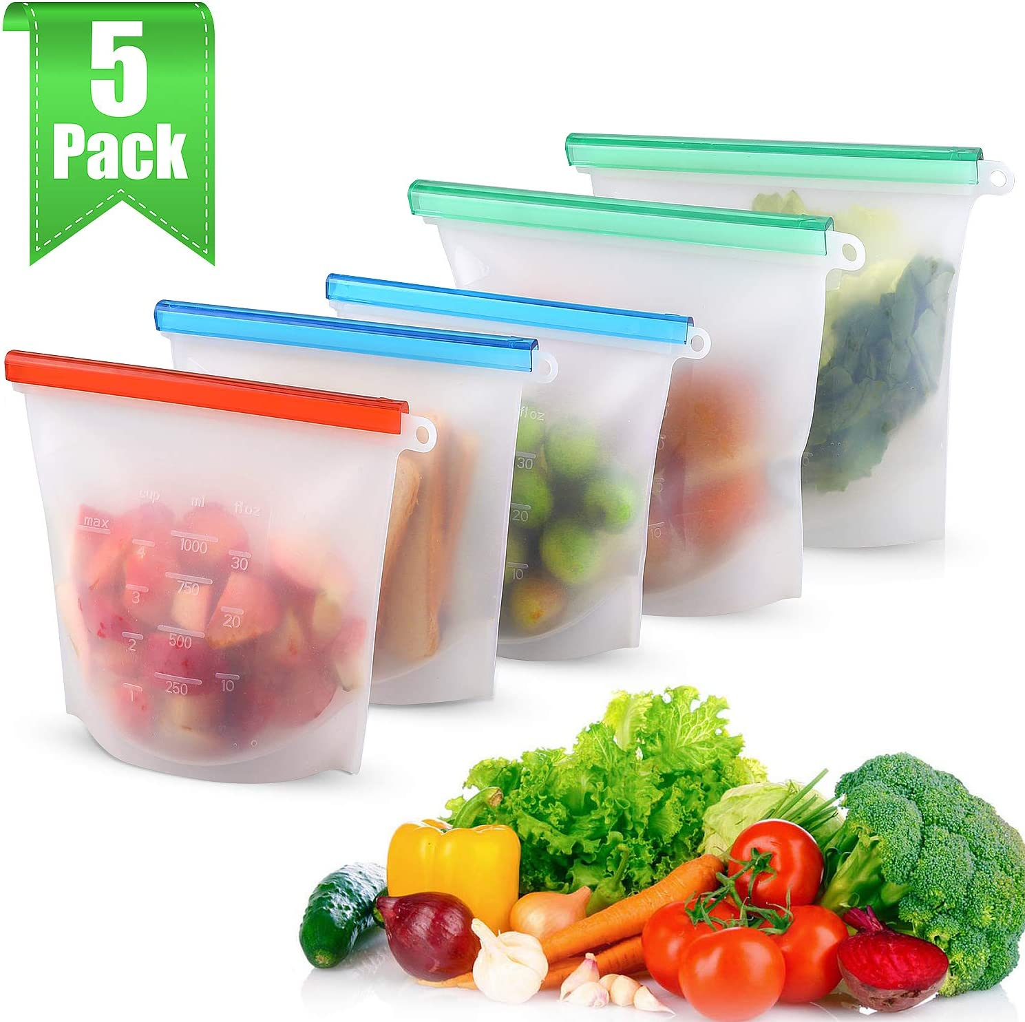 Amazon coupon code for Reusable Silicone Food Storage Bags