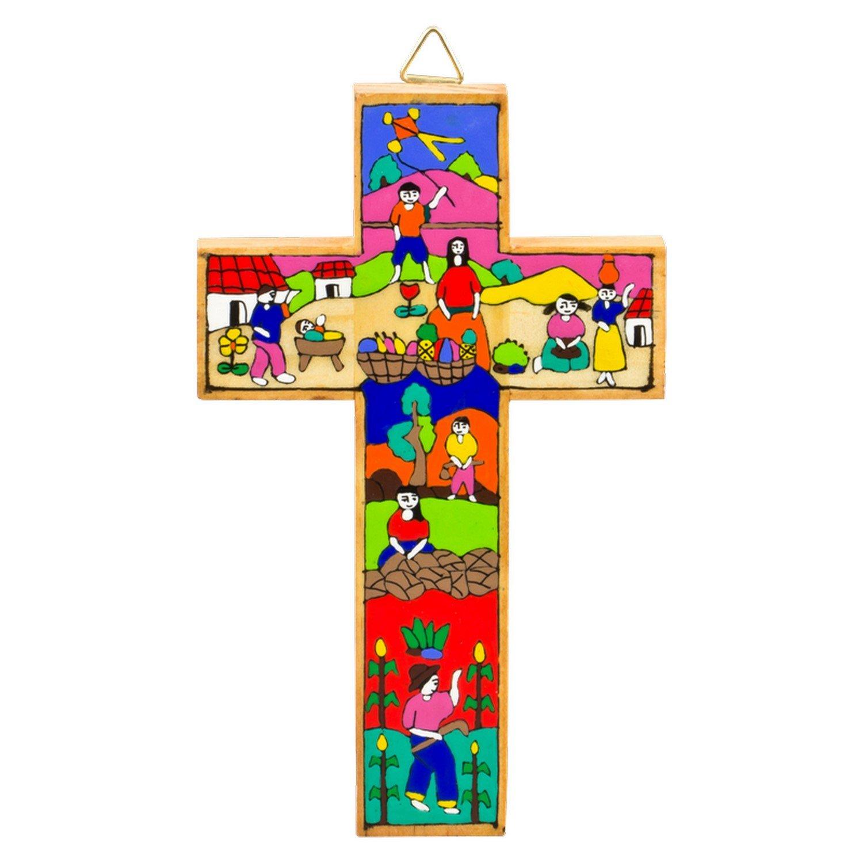fabriqu/é /à la main Croix pour le bapt/ême Les amis