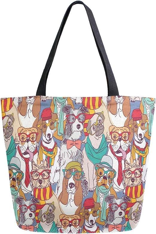 Beautiful Dalmation Canvas Tote Bag,Fashion Large Capacity Handbag for Women Travel