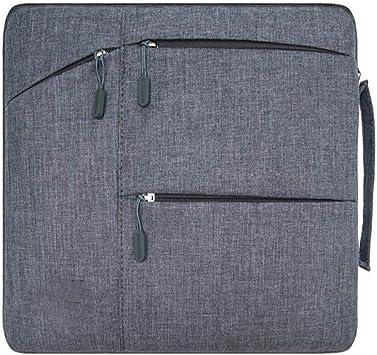 DPWJT Mujer con maletín de Cuero,Estuche para Laptop Messenger,Funda para portátil a Prueba de Golpes-Gris_14-15.4-15.6 Pulgadas,Maletín Gris de Hombre de Negocios,Bolsa médica para niños: Amazon.es: Electrónica