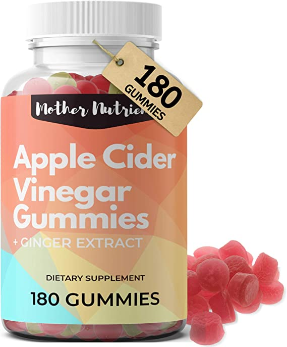 Apple Cider Vinegar Gummies (180 Count Family Size). Raw