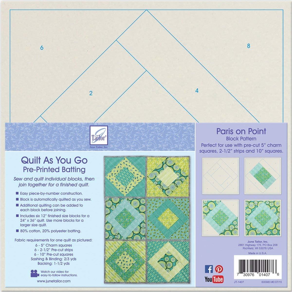 Hopscotch JT-1403 June Tailor Block Series Quilt As You Go