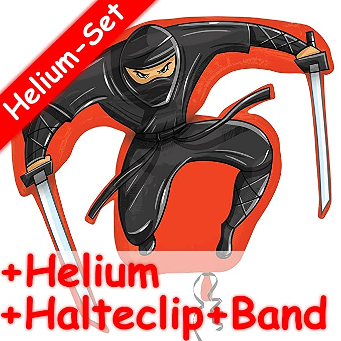 Carpeta Globo Juego * Guerrero Ninja * + Helium Relleno + ...