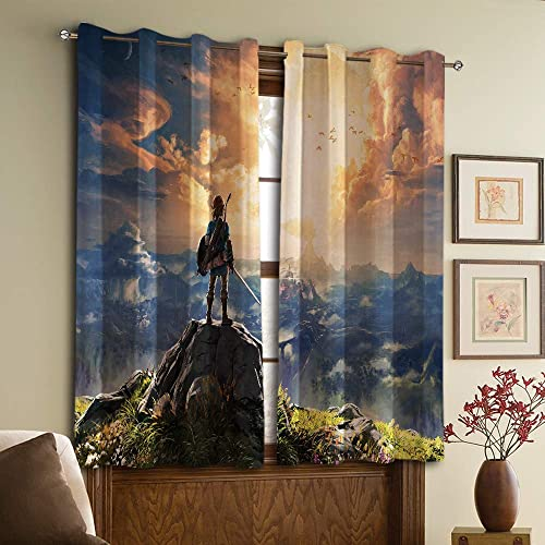 Anime The Legend of Zelda Blackout Curtains Panels,Home Decor Blackout Curtains W72 x84 L