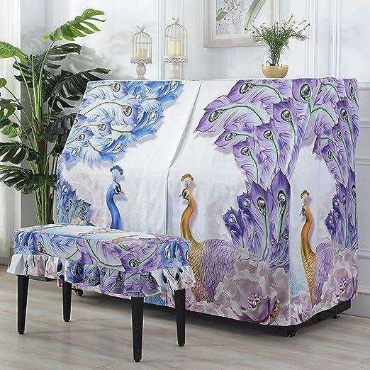 Cubierta para Piano Peacock Imprimir Piano Vertical Cubre ...