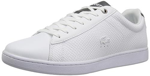86b819525e5c Lacoste Men s Carnaby EVO 417 2 Sneaker White 11.5 ...
