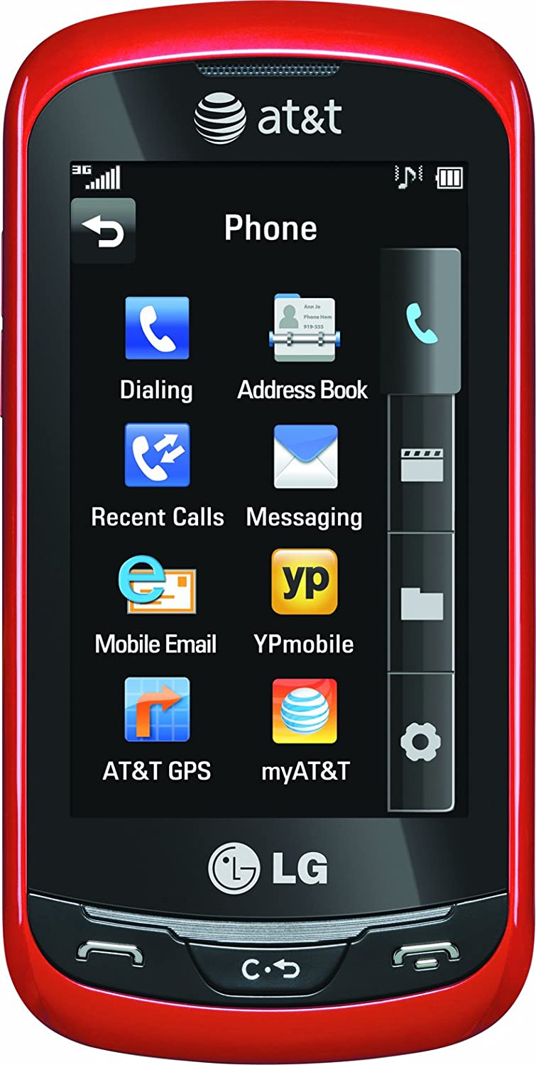 LG Xpression, Red (AT&T)