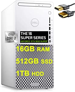 2021 Flagship Dell XPS 8940 Special Edition Gaming Tower Desktop 10th Gen Intel 8-Core i7-10700 16GB RAM 512GB SSD + 1TB HDD Geforce GTX 1650 Super 4GB WiFi DP DVD-RW Win10