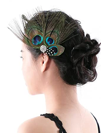 Amazon Aukmla Peacock Feather Headband Hair Accessories For