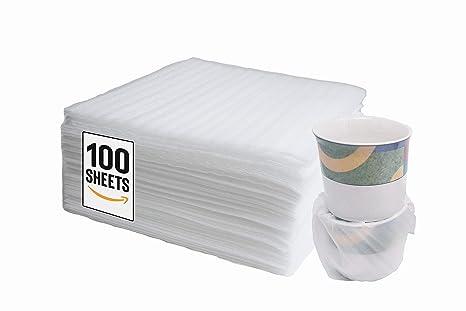 Amazon.com: 100 hojas de espuma de cojín de 11.8 x 11.8 in ...
