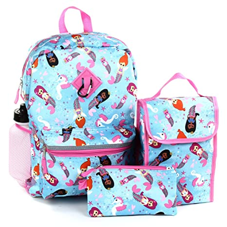 50d45bcce3eb7e Amazon.com  Girls Confetti 5 Piece Backpack Set. BackPack