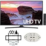 "Samsung UN43MU6300 43"" 4K Ultra HD Smart LED TV (2017 Model) w/ Wall Mount Bundle Includes, Slim Flat Wall Mount Ultimate Bundle Kit & Transformer Tap USB w/ 6-Outlet Wall Adapter and 2 Ports"