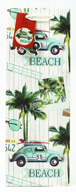 Para hombre Vintage para botella de vino bolsa de regalo playa papel de regalo presente embalaje: Amazon.es: Oficina y papelería