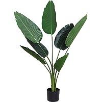 Outsunny Planta de Decoración Artificial de Palma Árbol