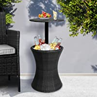 Cooler Ice Bucket Table Bar Outdoor Setting Furniture Patio Pool Storage Box