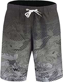 752ac842af APTRO Men's Quick Dry Swim Trunks Long Elastic Waistband Swimwear Bathing  Suits with Pockets