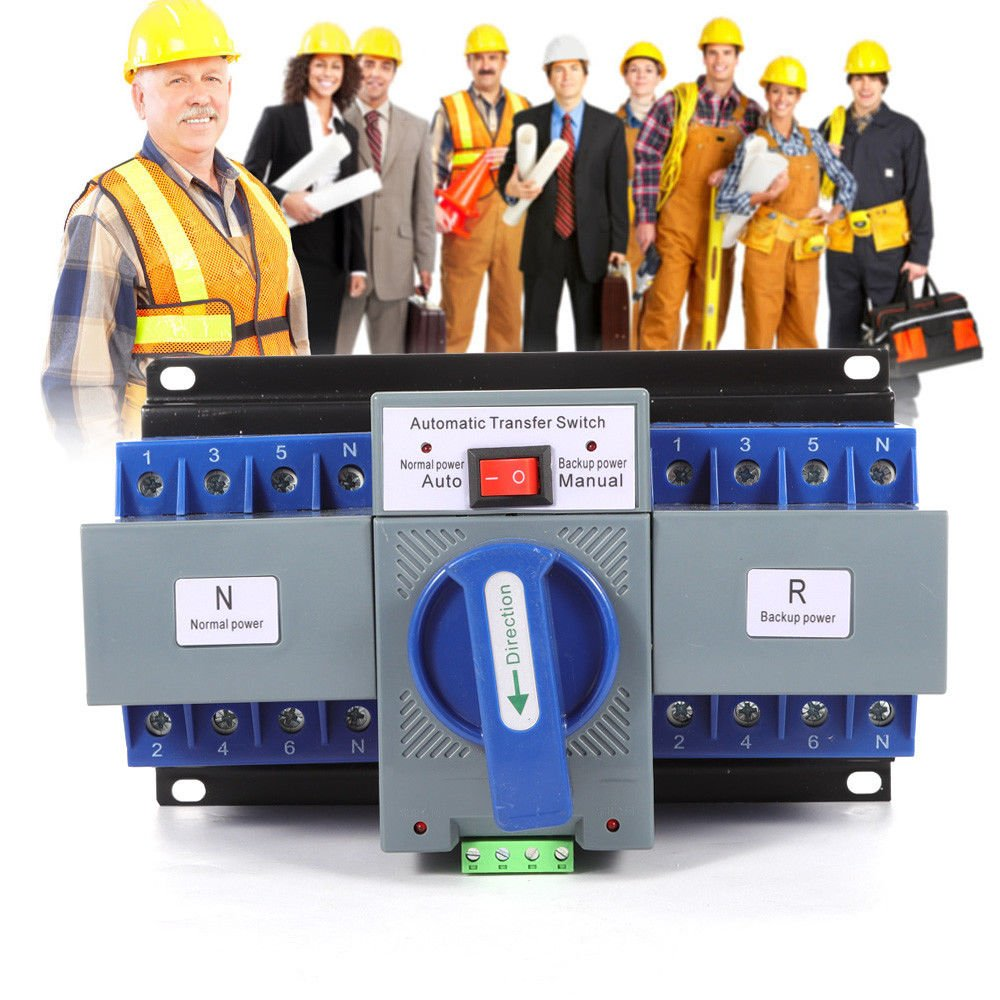 TFCFL Professional Automatic Transfer Switch Dual Power 4P 63A 400V Changeover Switch by TFCFL (Image #7)