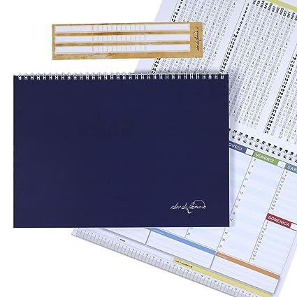 Agenda appuntamenti ed impegni Planner Settimanale da Tavolo Organizer A3 43x30 a strappo