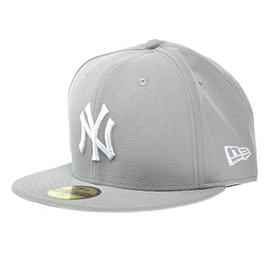 d03a78ef119 New Era New York Yankees MLB Basic 59FIFTY Cap Grey White ne-mlbbasic-
