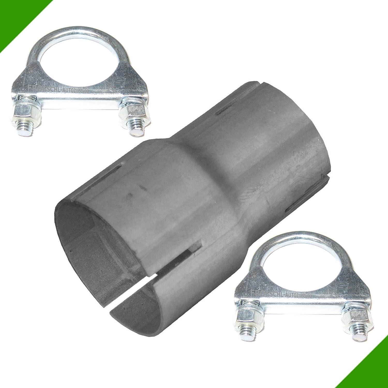 Rohr Reduzierstü ck von 50mm auf 60mm Auspuff Adapter inkl. 2 Schellen Fröschl Autozubehör