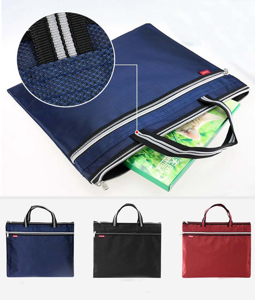 Multifunctional Student Papers Bag//Briefcase//Zipper Smooth Mens Briefcase