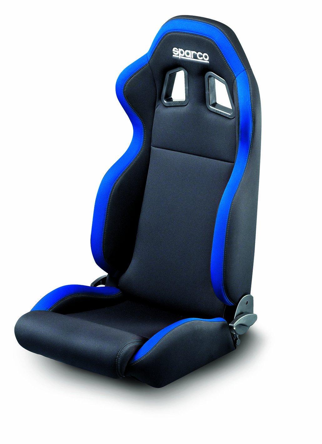 SEAT BLACK BLUE SPARCO R100