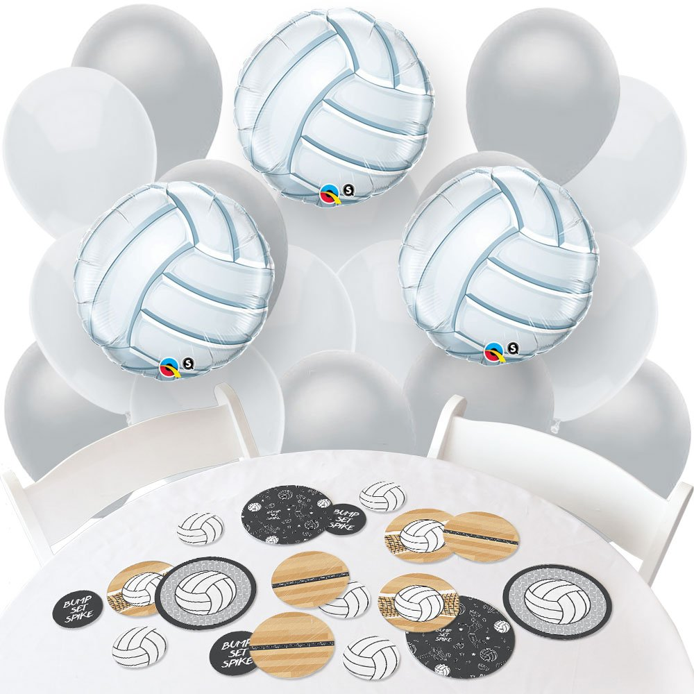Big Dot of Happiness Bump, Set, Spike - Volleyball - Confetti and Balloon Baby Shower or Birthday Party Decorations - Combo Kit
