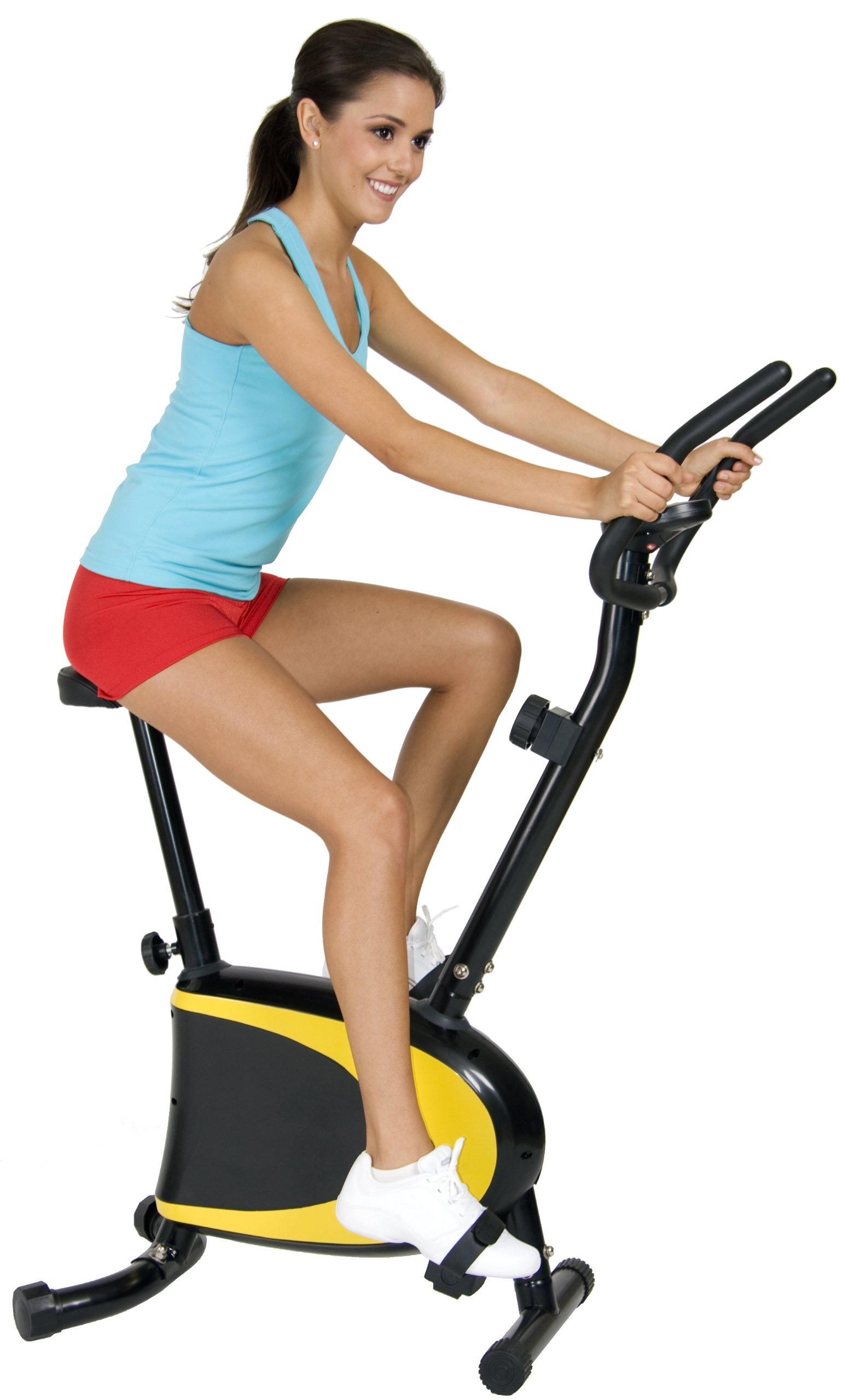 Body Champ Exercise Upright Bike with Heart Rate and Easy Computer/Adjustable Seat Stationary Workout Machine by Body Champ (Image #2)