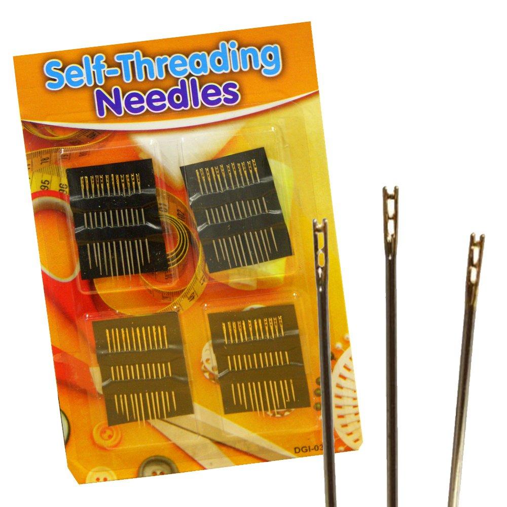 48 x SIMPLE SELF THREADER THREADING SAFETY SEWING DRESSMAKER NEEDLES TRAVEL KIT Guaranteed4Less