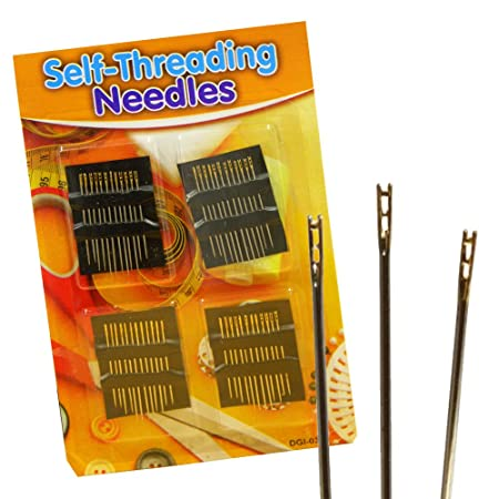 self threading needles easy thread threader simple safety sewing