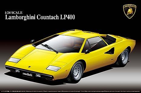 Amazon Com Aoshima Lamborghini Countach Lp400 Model Kit Toys Games